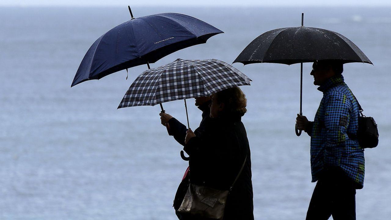 El huracán Óscar afectará a Galicia como borrasca.Santa Cristina, en Parada de Sil