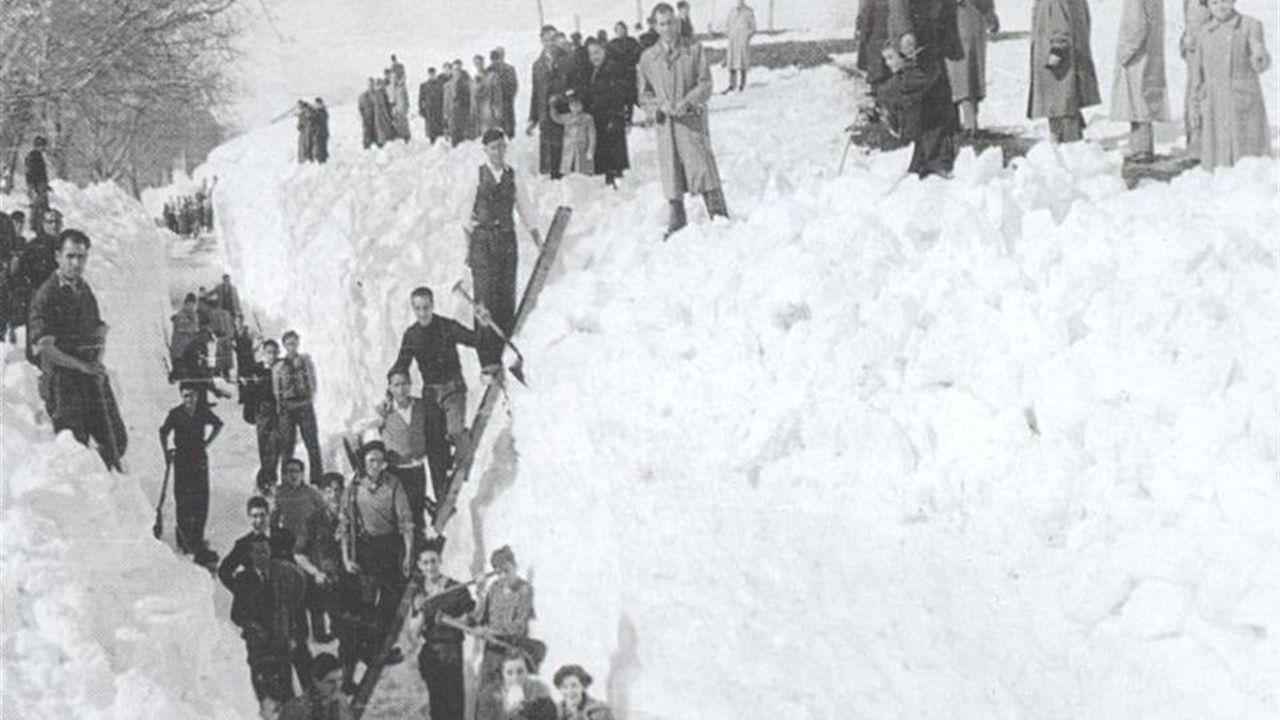 La Nevadona de 1888 en Asturias