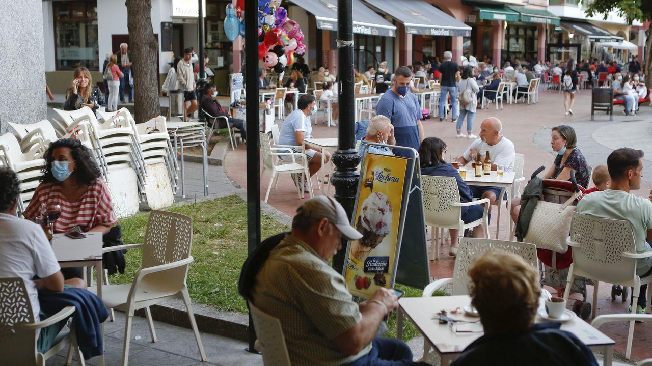 Así es el único furancho de la provincia de Lugo.Las terrazas de la hostelería local están hasta arriba, como cada verano
