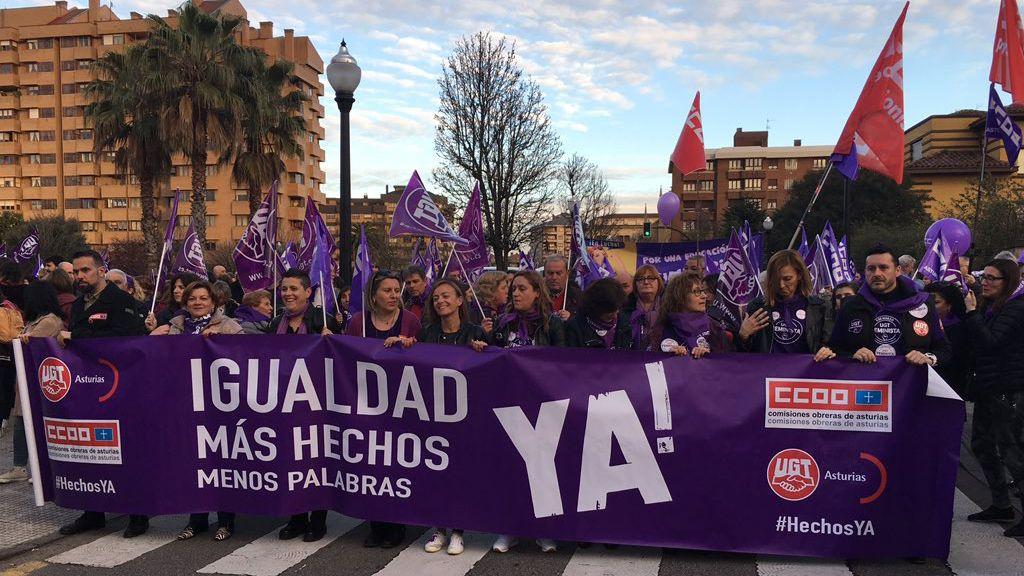 Manifestación 8-M en Gijón