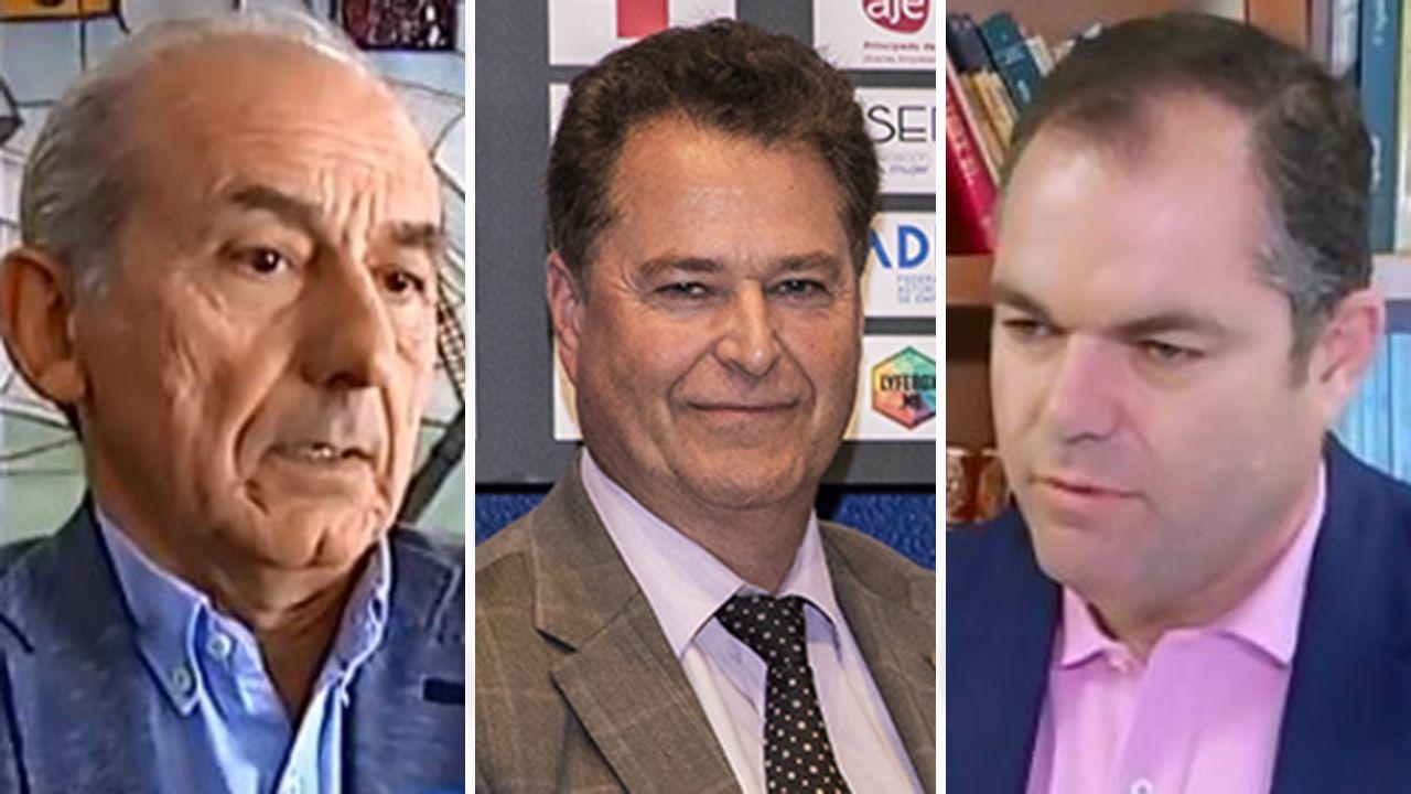 Luis Noguera, Félix Baragaño y Carlos Paniceres