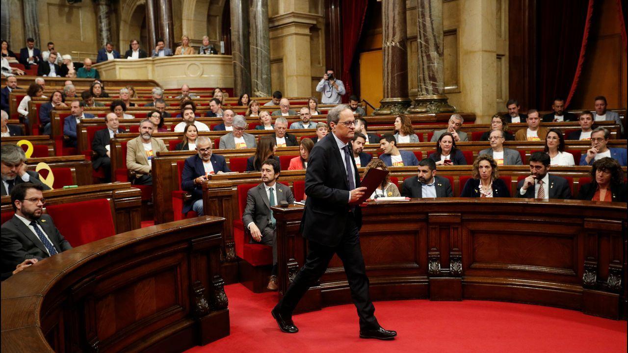 El presidente catalán, Quim Torra, en una sesión del Parlamento