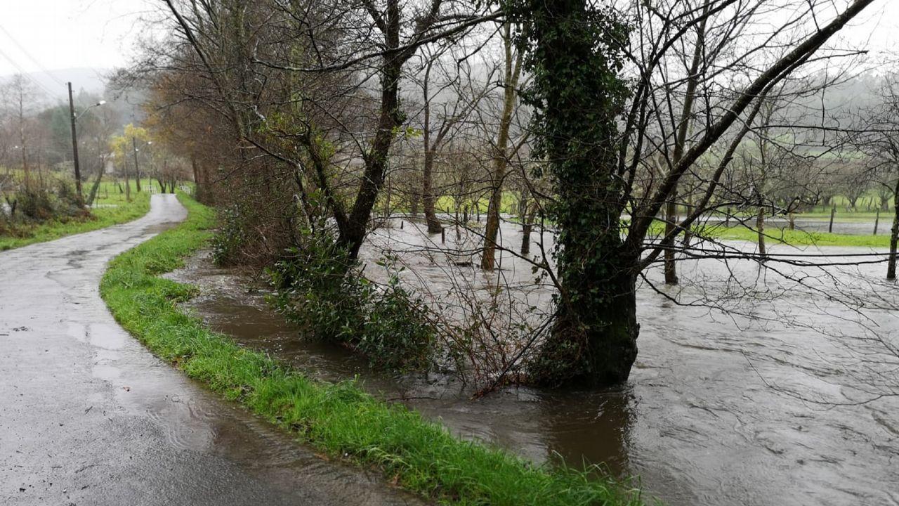 Desbordamiento del río Baleo, en Couzadoiro
