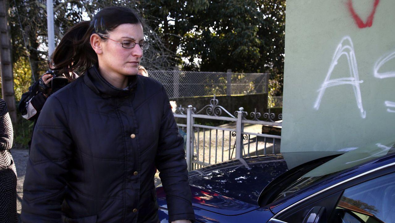 El Chicle llega a los juzgados de Ribeira para reconstruir el crimen de Diana Quer.La madre y la hermana de Diana Quer, hoy en A Pobra