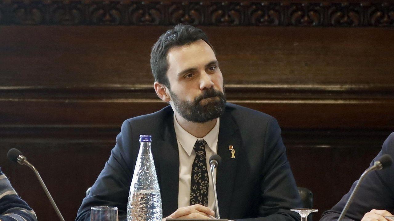 Los diputados de JxCat Jordi Turull (derecha) y Josep Rull, el pasado 12 de marzo