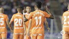 Gol Barcenas Tenerife Real Oviedo Heliodoro Rodriguez Lopez.Bárcenas celebra el 0-1 frente al Tenerife
