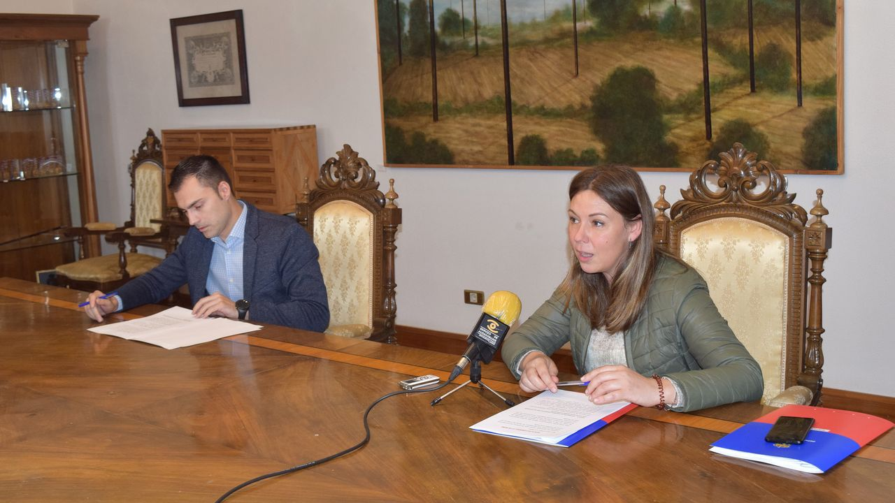 Pilar García Porto y Pablo Rivera, diputados del gobierno de la Diputación