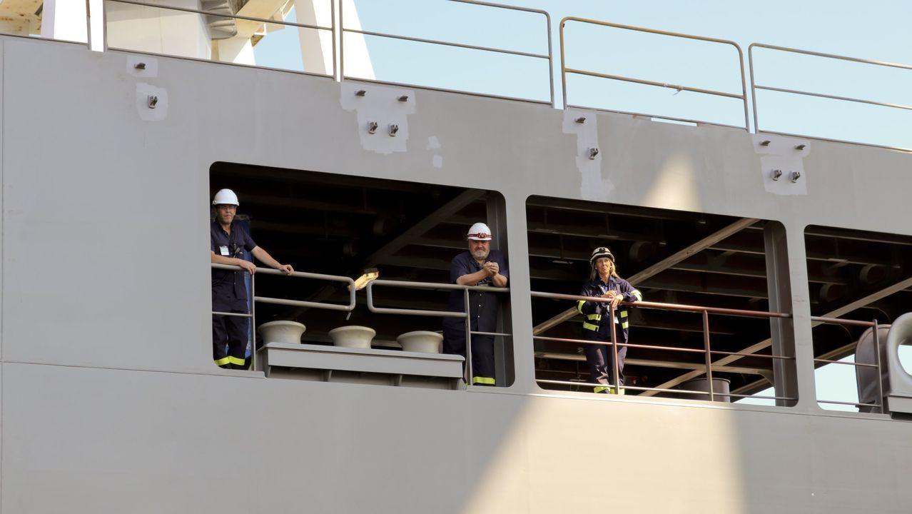 Navantia fabrica en Ferrol dos buques logísticos para Australia. En la imagen, de archivo, en la botadura del segundo