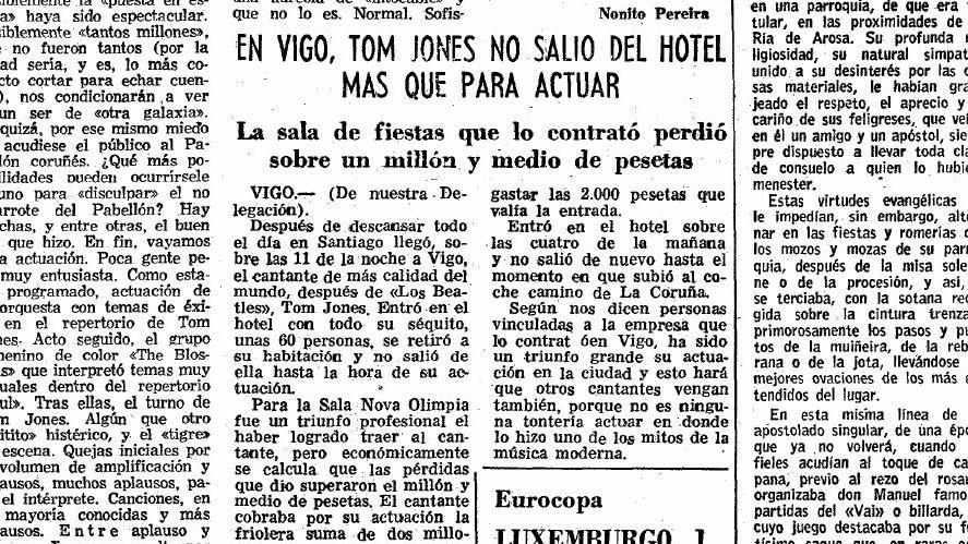 Información de La Voz de Galicia del 2 de mayo de 1975