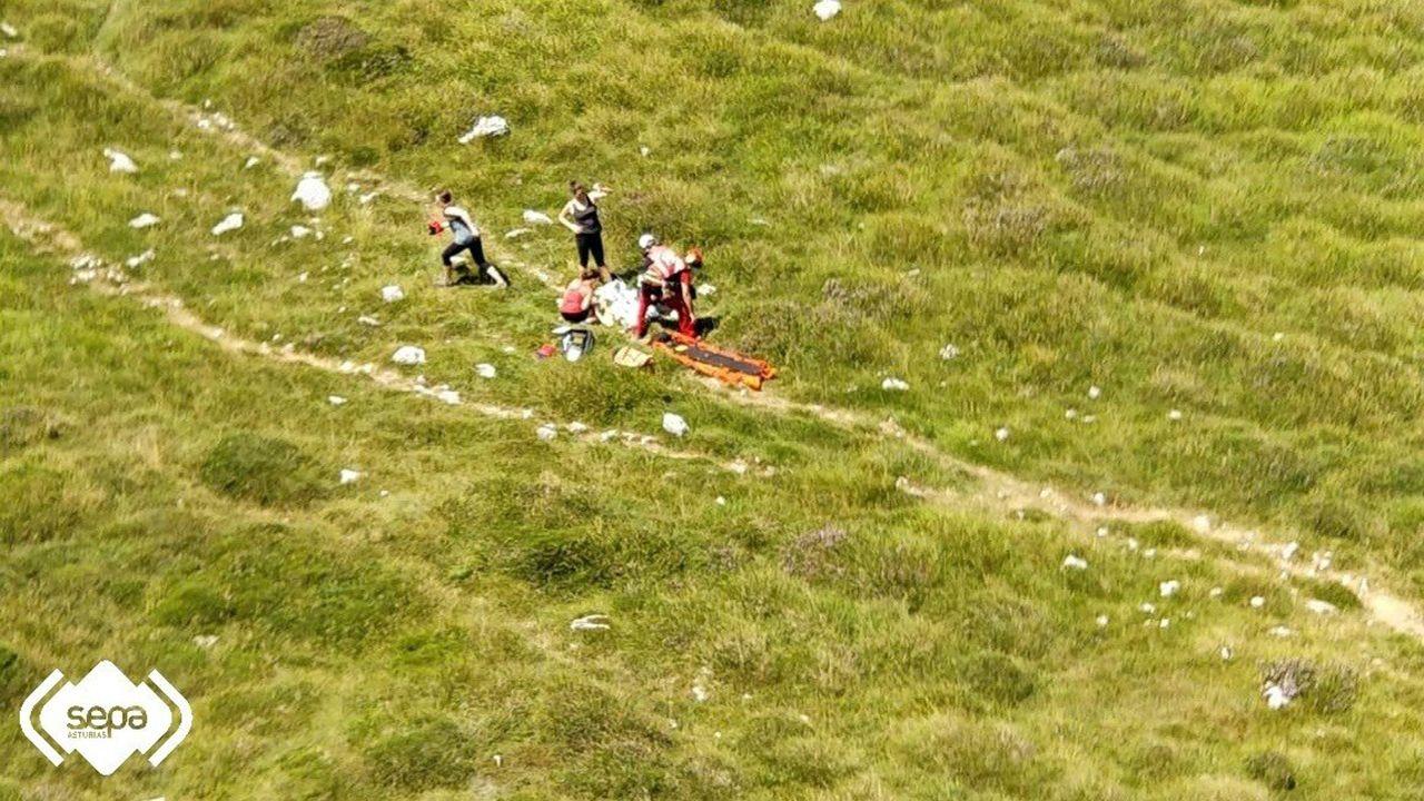 Rescate de una mujer de 55 años en Cabrales