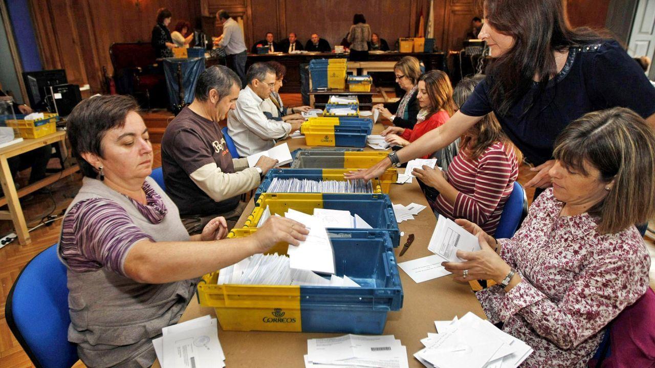 Recuento del voto exterior en las autonómicas del 2012, en la Audiencia de Pontevedra