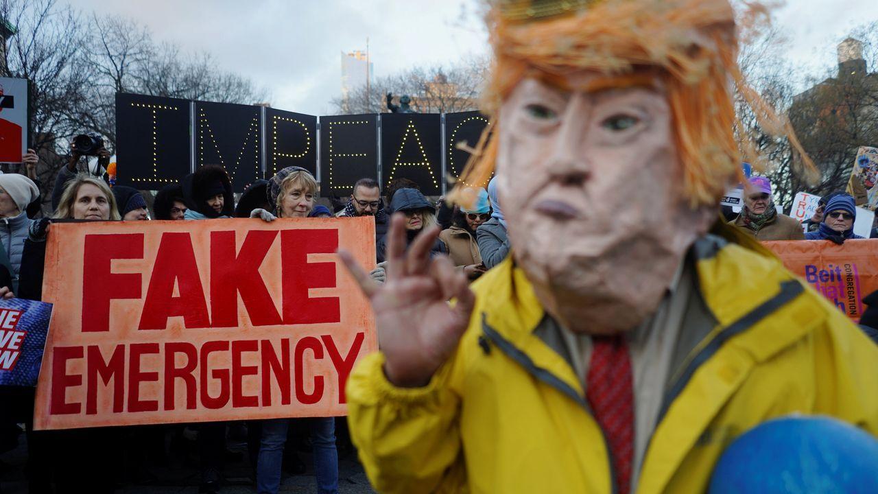 Protestas contra el muro de Trump