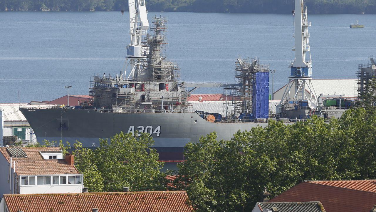 La Guardia Civil evitó un altercado entre percebeiros y bateeiros en A Barca de Muxía.EL SEGUNDO BUQUE LOGÍSTICO PARA AUSTRALIA, EN CONSTRUCCIÓN EN NAVANTIA FERROL