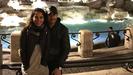 Julia Nakamatsu y Melendi en la Fontana di Trevi