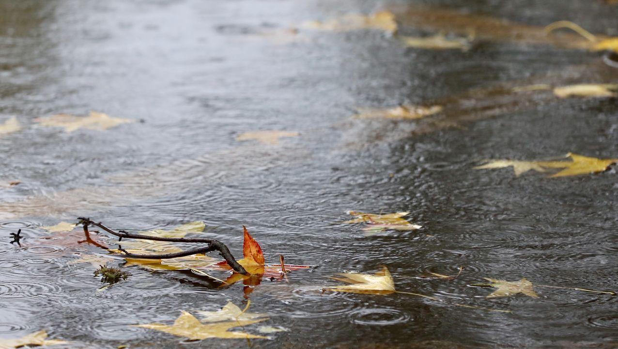 LLuvia esta mañana en Santiago