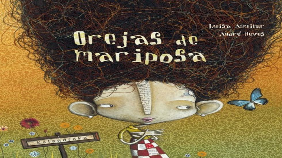 «Orejas de mariposa» es uno de los libros más demandadados de Kalandraka.Susa Herrera compone y canta en este libro disco.