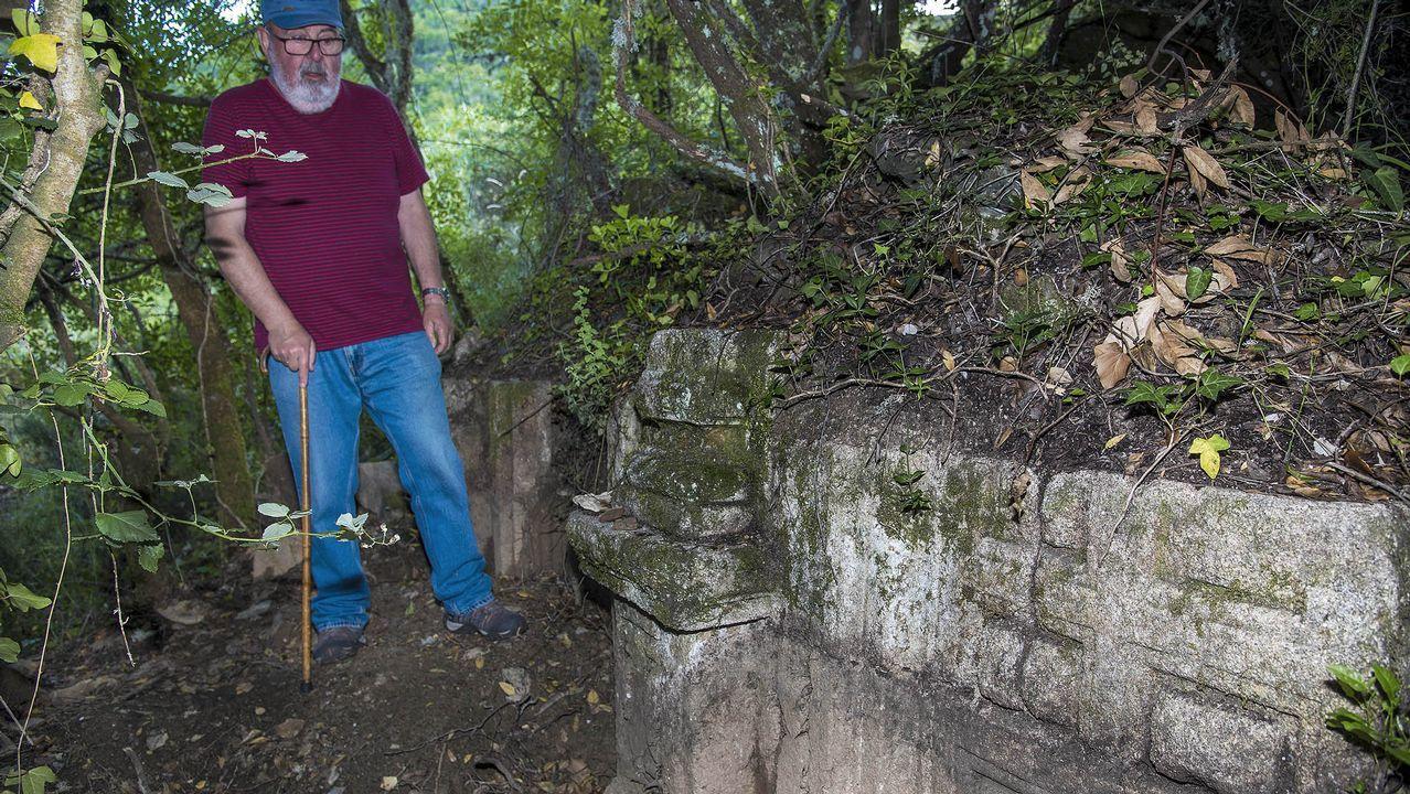 Visita en imágenes a una antigua iglesia desaparecida de la ribera de Sil.Ana María Martínez, ayer en su consulta de Castro Caldelas
