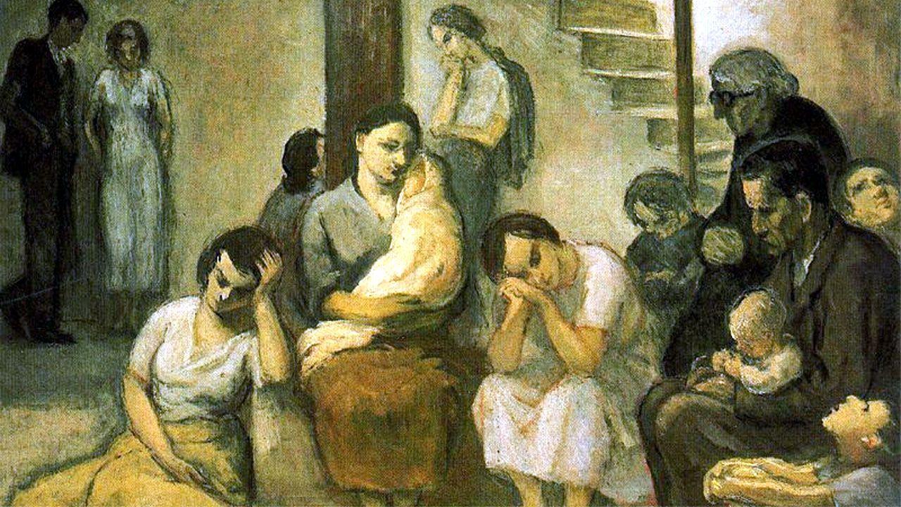 «El refugio», cuadro de Nicanor Piñole