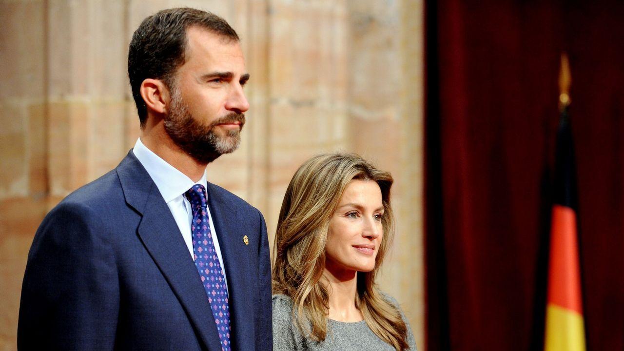 2009. Los príncipes de Asturias en Oviedo