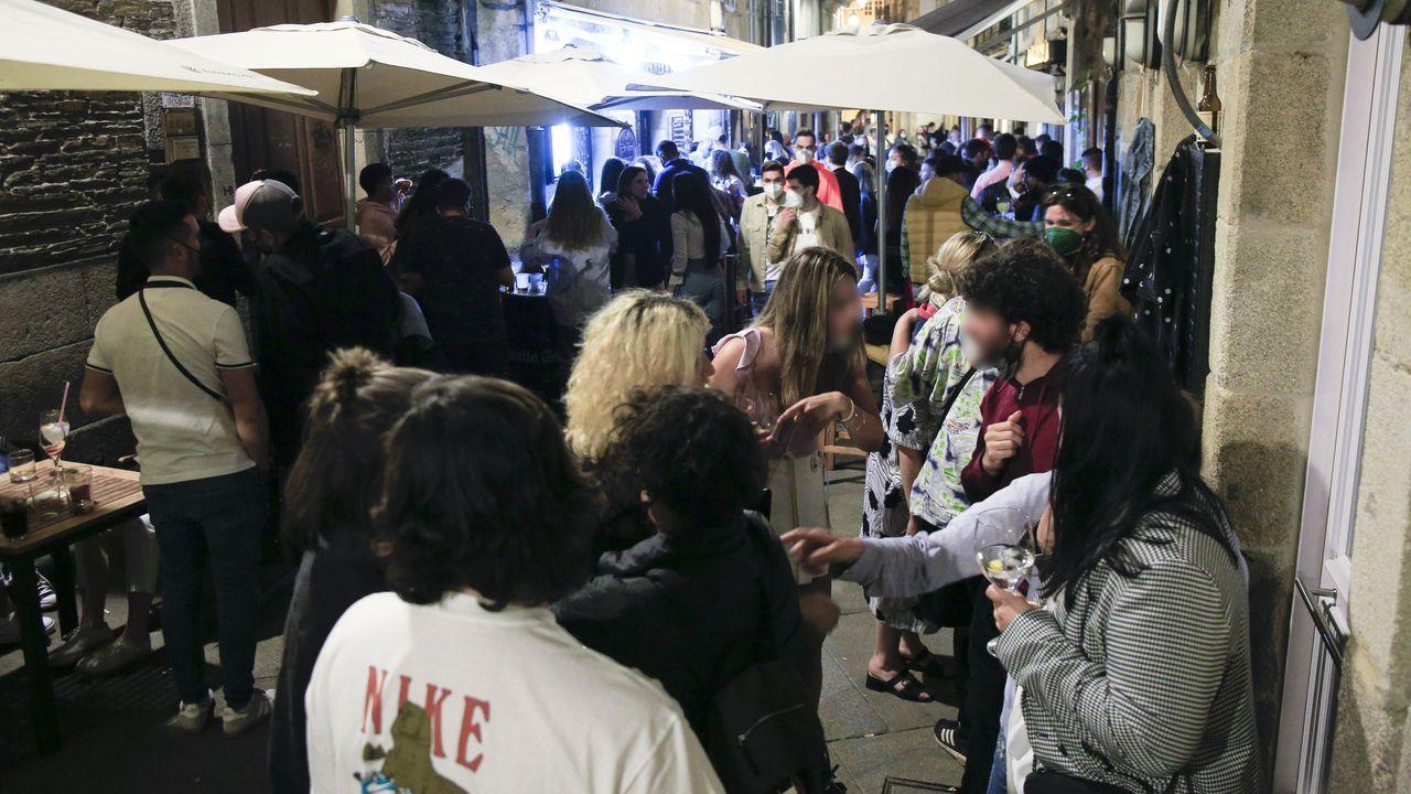 Ambiente en la zona de vinos de Lugo durante este fin de semana