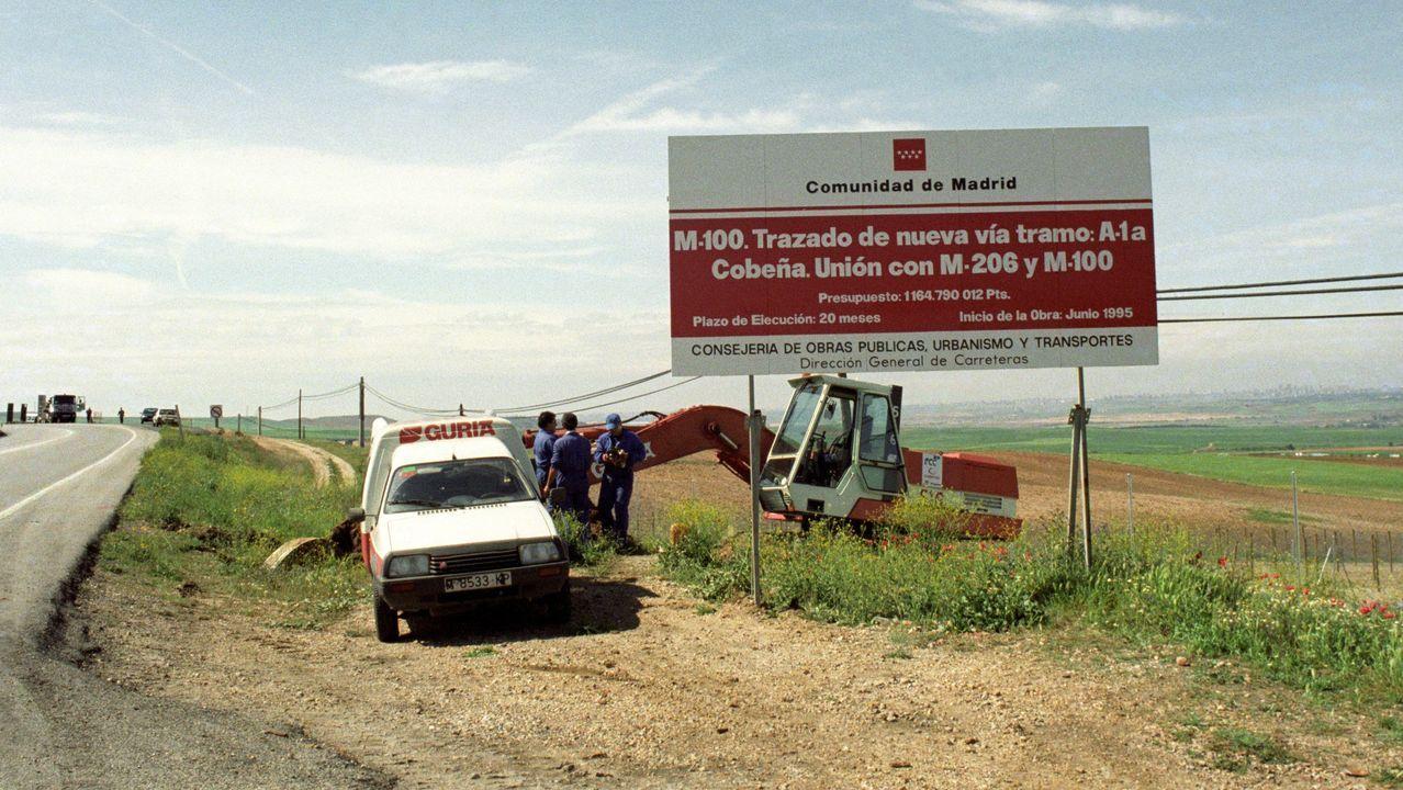 Carretera en construcción en cuya cuneta fue hallado el cuerpo de la joven de 16 años