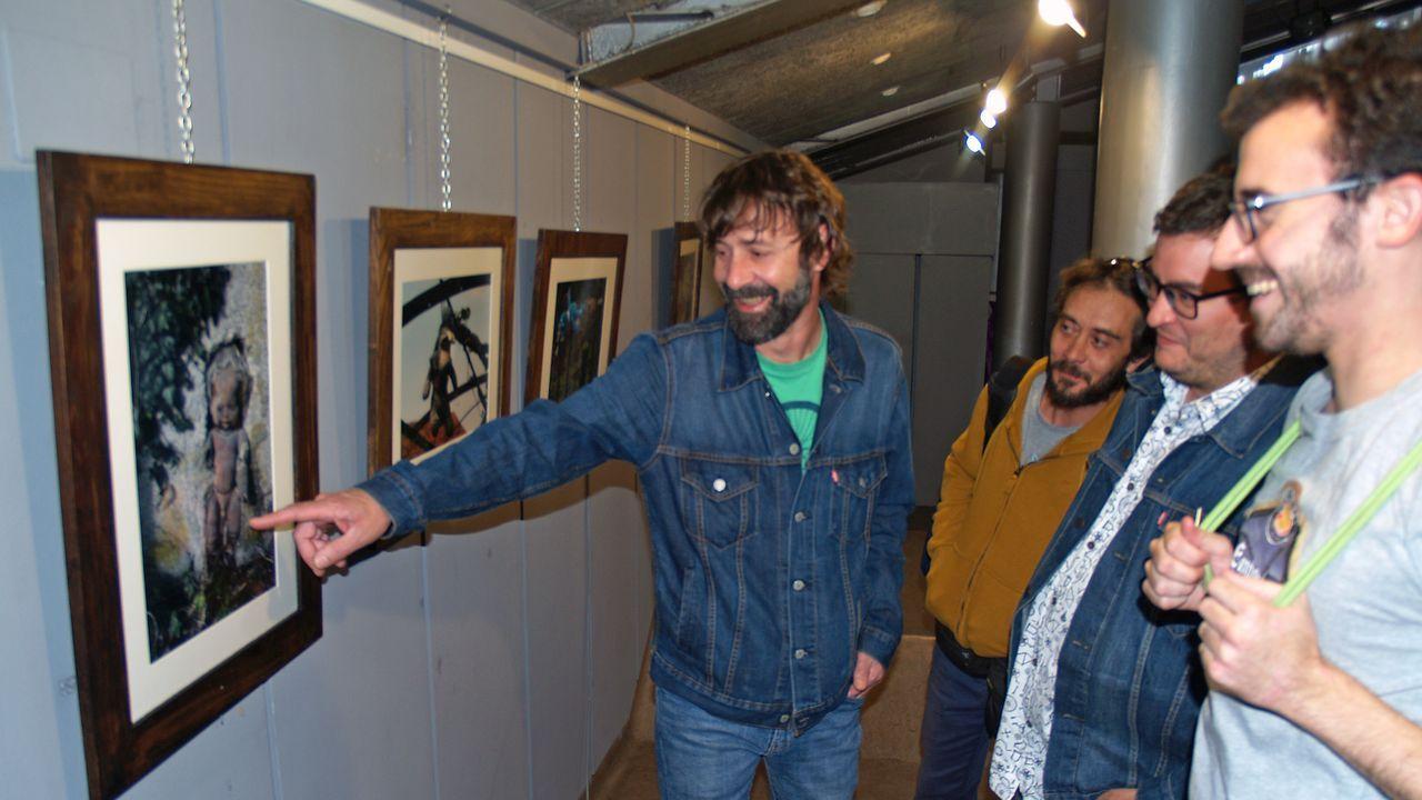 La cosecha de la uva en O Salnés.La exposición fotográfica podrá visitarse durante todo el mes en la Casa de Cultura