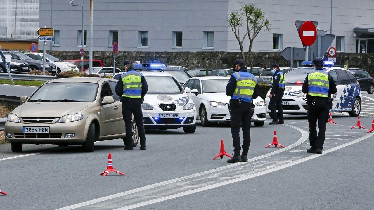 Control de la policía municipal de Poio