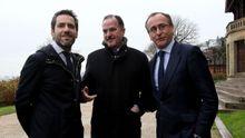 Imagen del pasado 23 de enero. Borja Sémper, expresidente del PP de Guipúzcoa, Carlos Iturgaiz, entonces expresidente del PP vasco y Alfonso Alonso, presidente del PP vasco