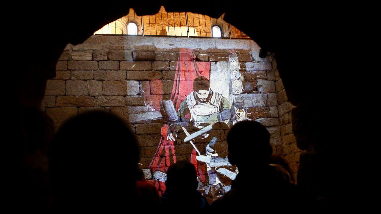 La nueva cara del castillo de Soutomaior.PASATIEMPO EN BETANZOS