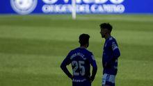 Tejera Borja Valle Real Oviedo Ponferradina Carlos Tartiere.Sergio Tejera y Borja Valle, durante un partido del Real Oviedo