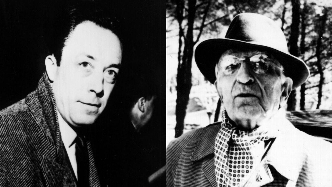 Camus (izquierda) admiraba a Salvador de Madariaga