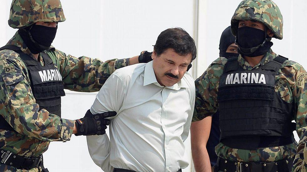 Así se fugó el «Chapo» Guzmán.Manifestación a favor del Chapo Guzmán en febrero del año pasado