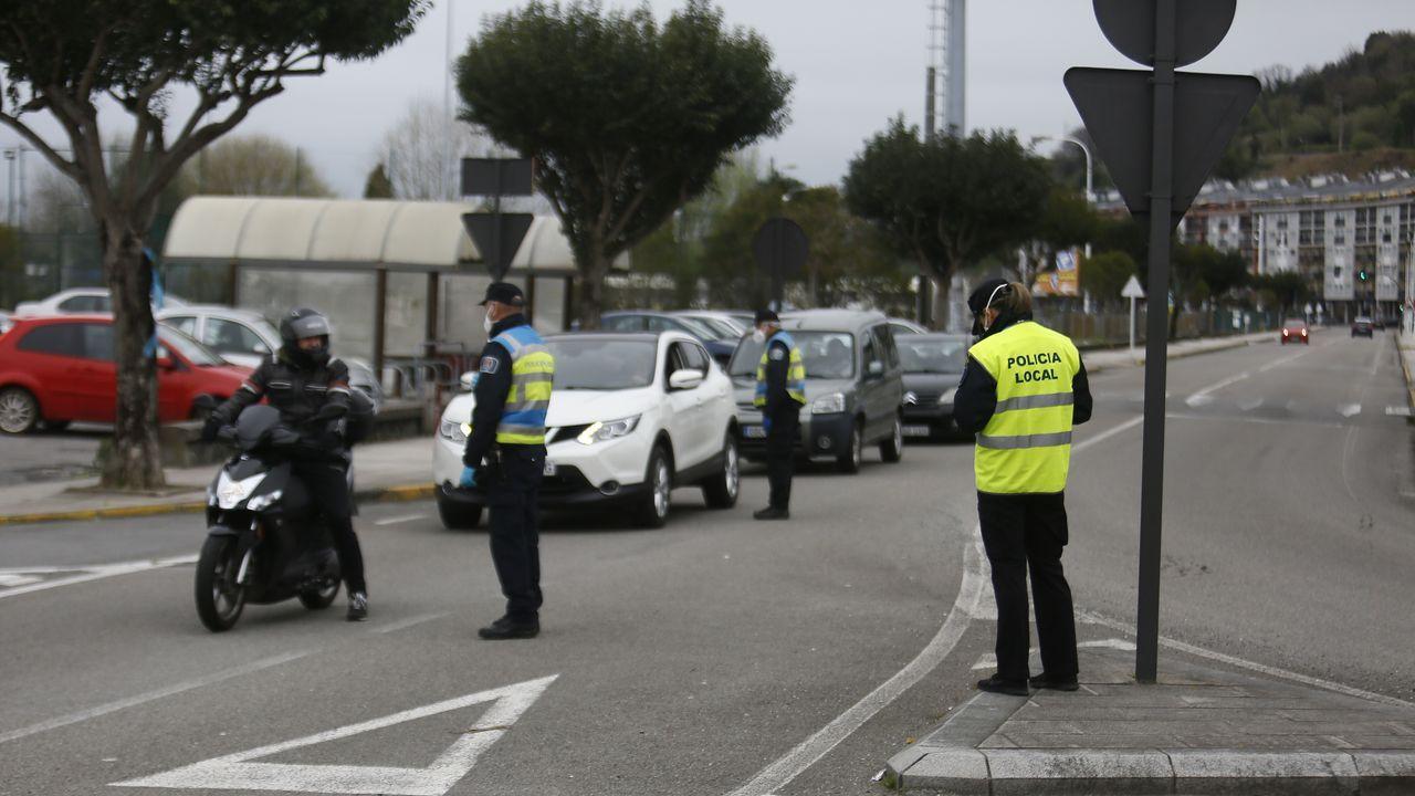 La Policia Local de Viveiro controla a la población