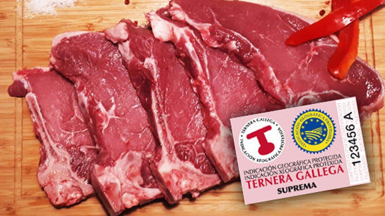 Toda la carne que comercializan lleva el sello Ternera Gallega Suprema