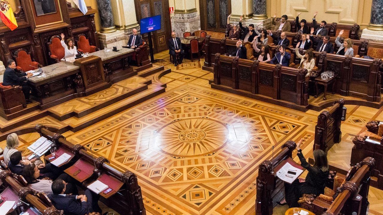 Pleno municipal en A Coruña.