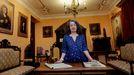 La investigadora Jo Labanyi, especialista en la literatura del siglo XIX español, este lunes en la casa museo Pardo Bazán.