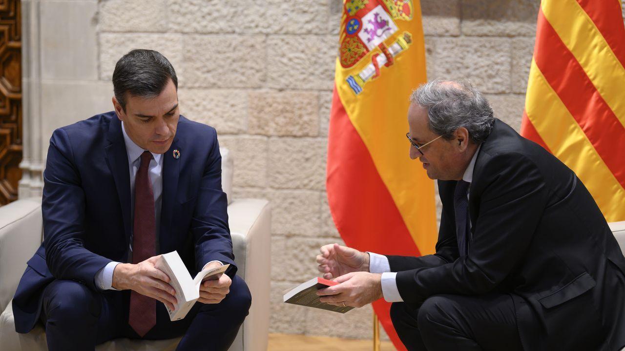 Quim Torra protagonizó este sábado un acto propagandistico de Junts en Barcelona