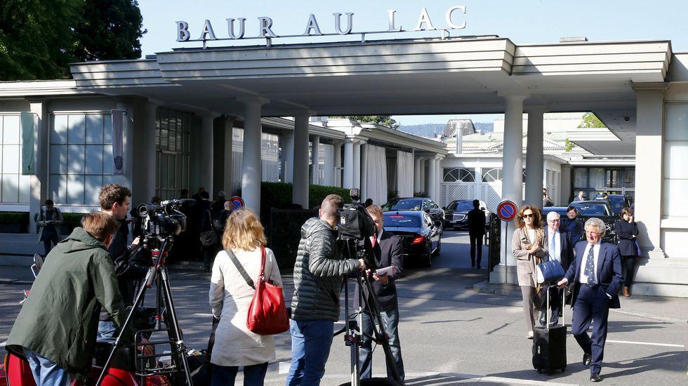 Hotel Baur au Lac, lugar en el que se registraron al menos seis detenciones.