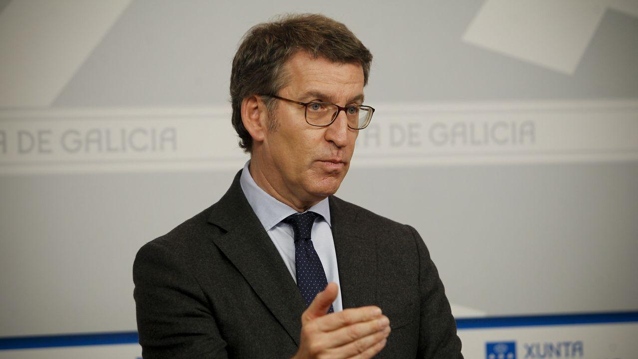 Galiza en Marcha, lema de campaña do BNG.Néstor Rego, diputado del BNG, saluda Sánchez