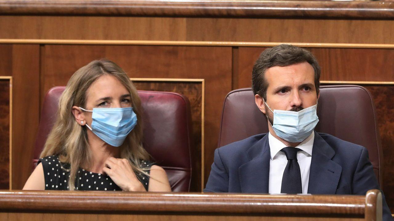 Ambiente en la moción de censura de Castrelo de Miño.Ana Pontón, líder del BNG