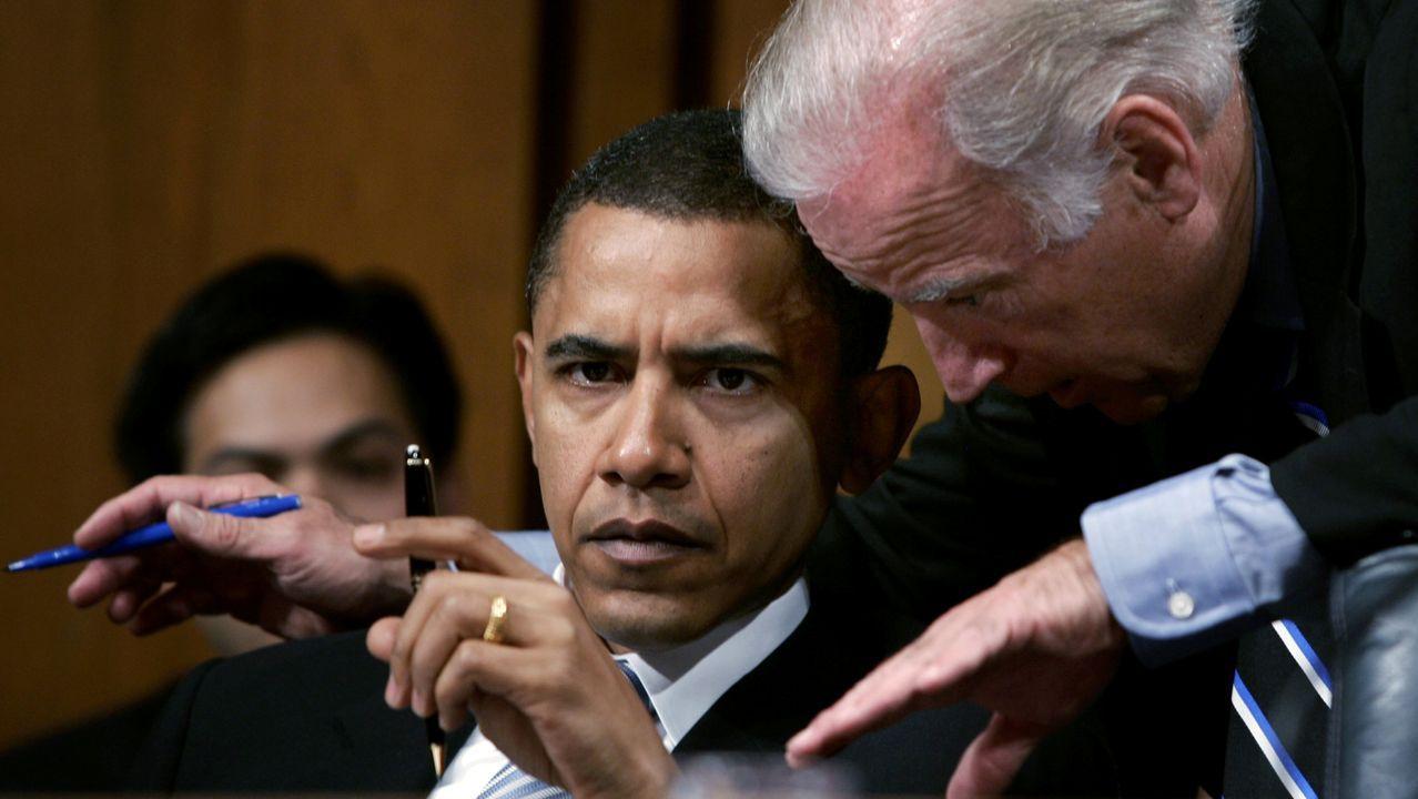 Biden y Obama, en el año 2005