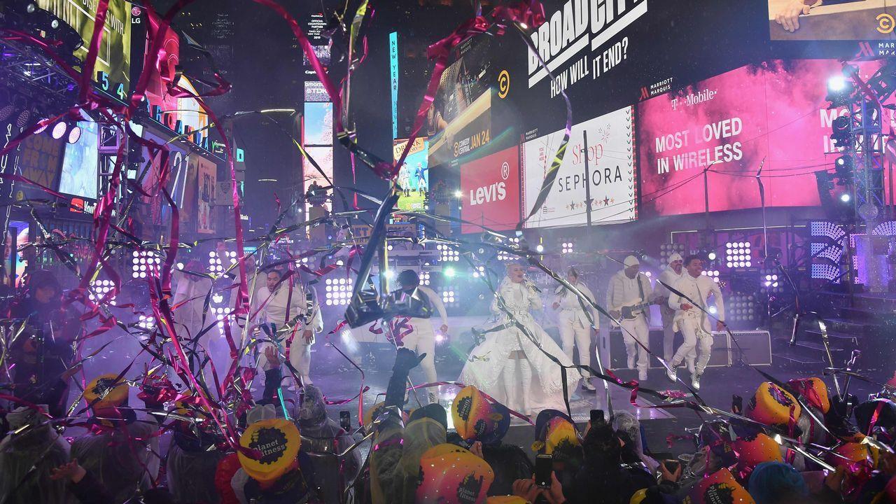 Todas las imágenes del concierto de Blas Cantó.Fin de Año en Times Square