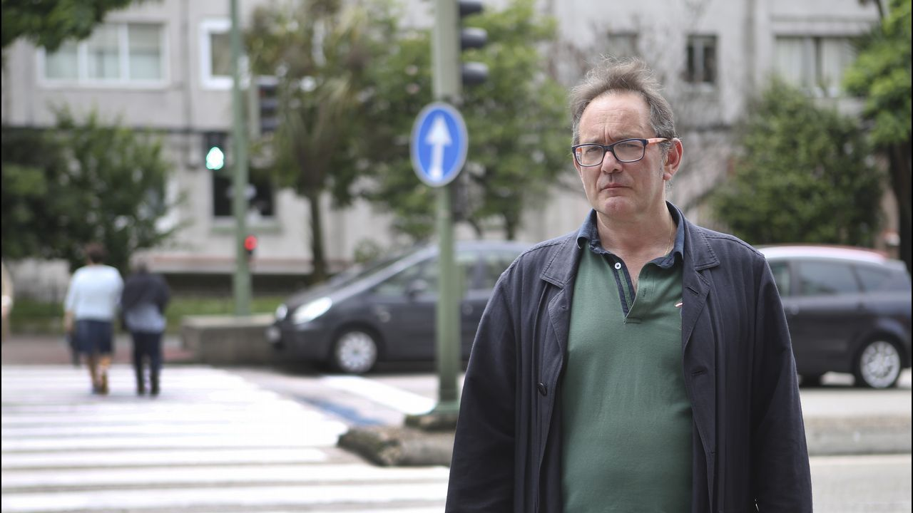 José Manuel, en el paso de peatones donde tuvo lugar el accidente