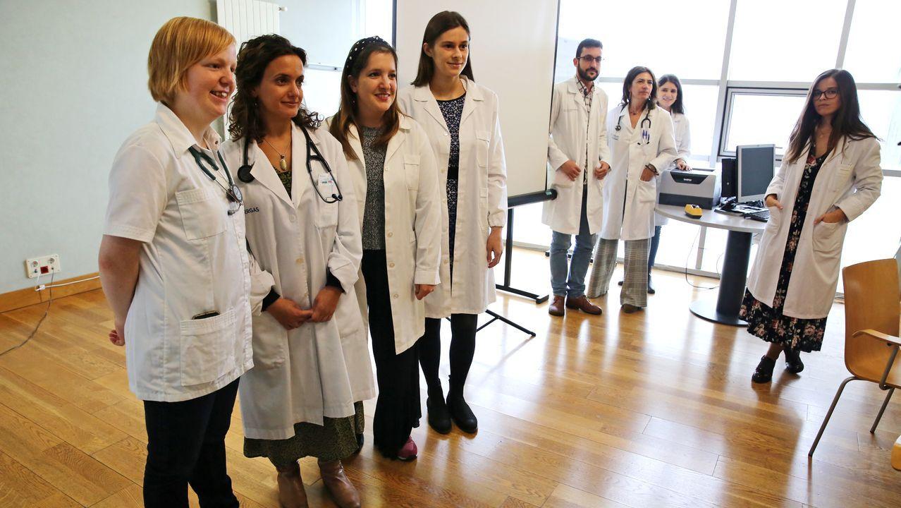 Katrien Danthieux, Yanica Vella, Rita Margarido y Katy Horder, ante la mirada de Sara Correia. Ó. VÁZQUEZ
