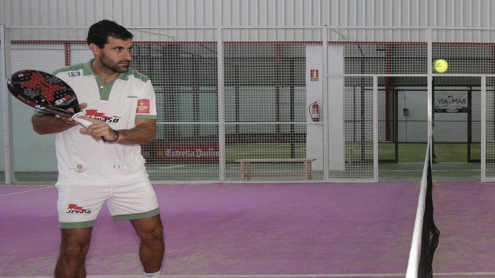 El Open La Voz de Galicia de Padel celebró suquinta edición.Borja Yribarren es uno de los mejores jugadores de España