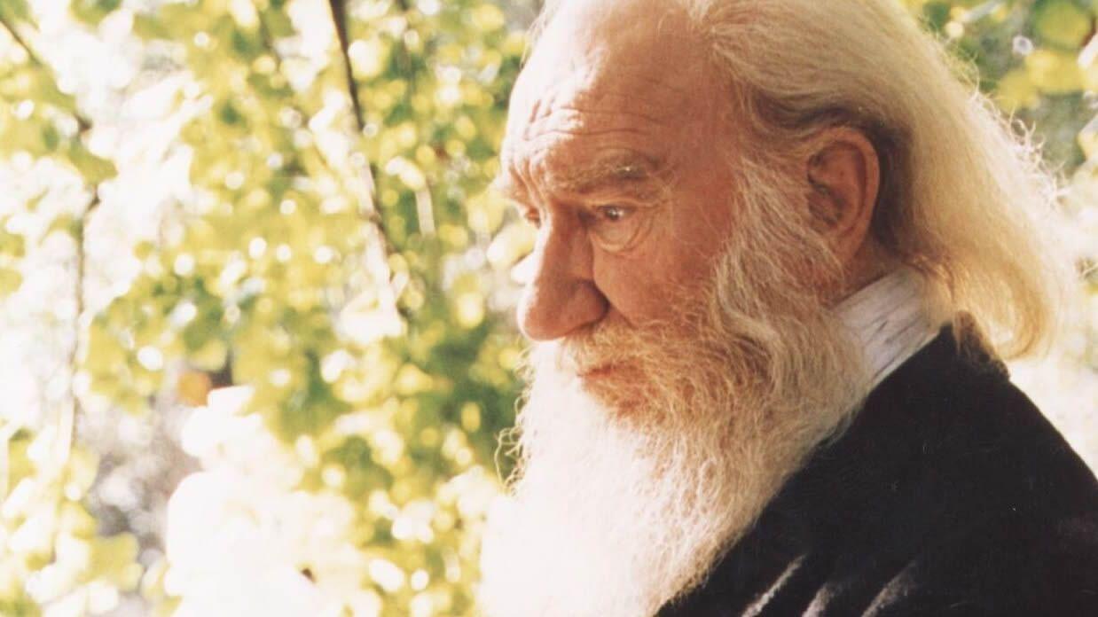 Talan la palmera que quedaba en Ravella.El actor, escritor, director y dramaturgo Fernando Fernán Gómez (Lima, 1921-Madrid, 2007)