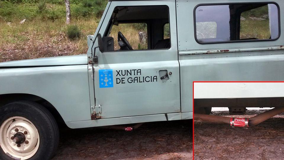 El Land Rover empalmado de las Cíes