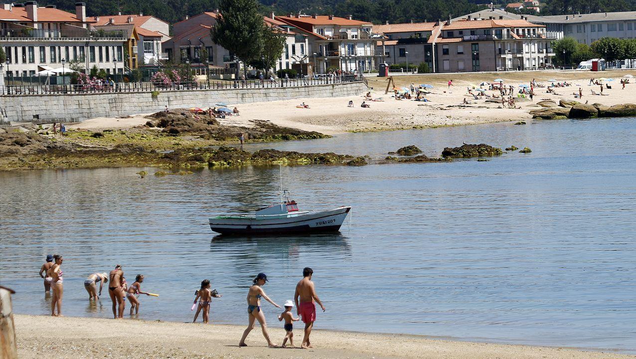 En el entorno de la playa ribeirense de Coroso hay muchos pistos registrados en el portal de viviendas turísticas de la Xunta