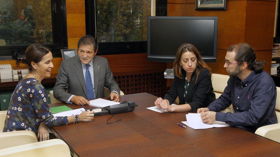 Carcedo, Fernández, Lorena Gil y Emilio León
