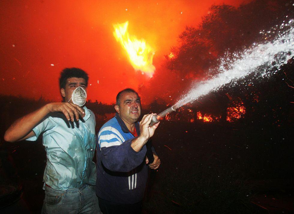 Incendio forestal en Cotobade